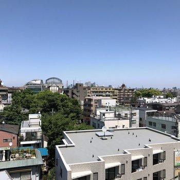 ※7階別部屋からの眺望です。募集は3階なので、もっと低い眺めですね。