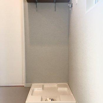洗濯パンも脱衣スペースにあります。
