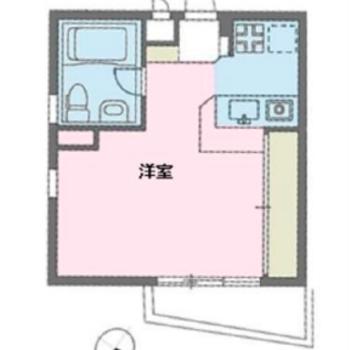 1人暮らしにはちょうどいい1Kのお部屋です。