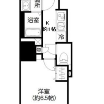 1人暮らしに良い1Kのお部屋です。