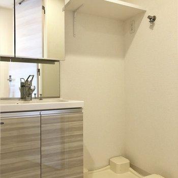 洗面所。隣に洗濯機置き場もあります。