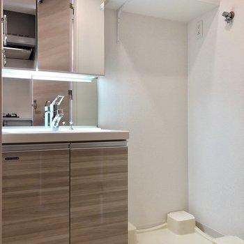 洗面所。洗濯機置き場もあります。