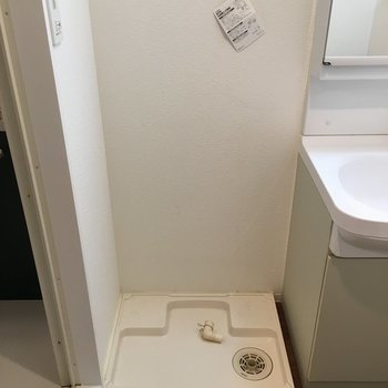 横に洗濯機置けます。※写真は別部屋です