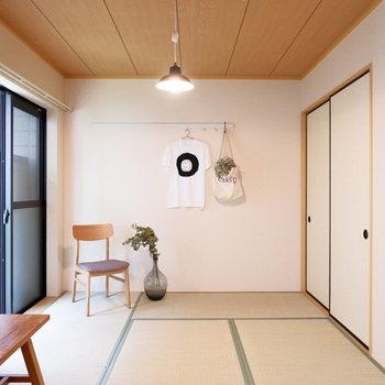 和室にはあえて洋風の家具など置いても合うんですよ♪