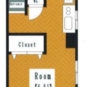3面に開口部ある1Rのお部屋です。