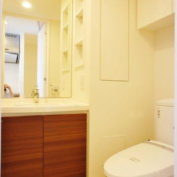サニタリー、トイレと同室 ※13階同間取り別部屋の写真です