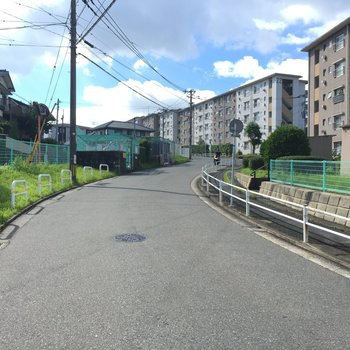 駅からのこの道を、気持ちよく走り抜けたい!