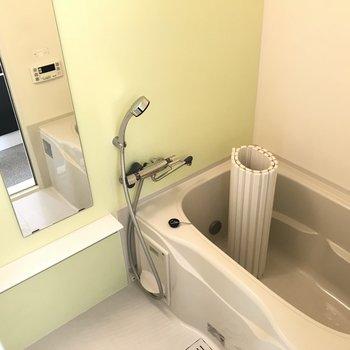バスルームはすこし可愛げ