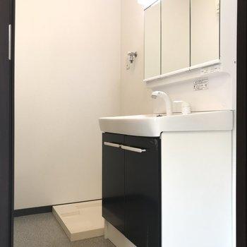 洗面台と室内洗濯機機置場