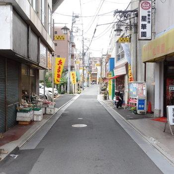 駅前にはレトロな商店会あります。
