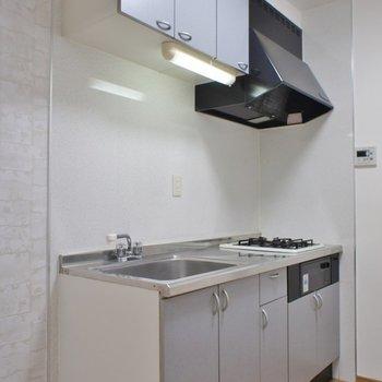 キッチンは広々。※写真は102号室のもの