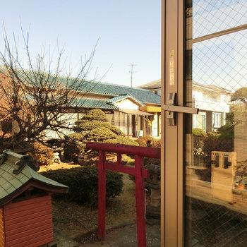 隣にあった和の景色。※写真は同じ間取りの別部屋です