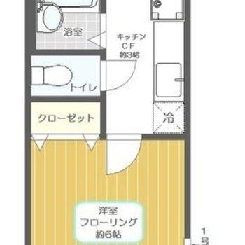 ごく、普通の1Kのお部屋