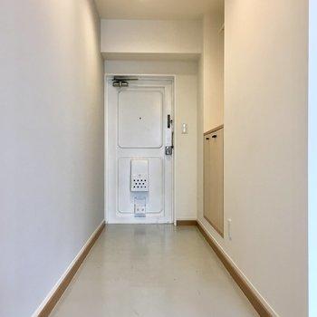 玄関が広い!有効活用したくなる。