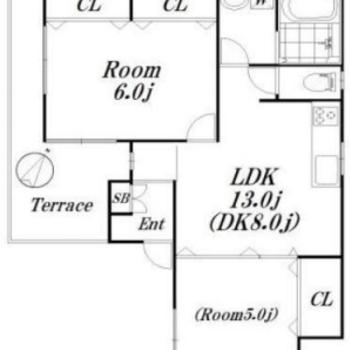 約45㎡、4方角部屋です!