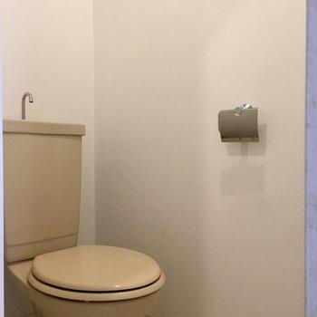 トイレはコンパクト(※写真は清掃前のものです)