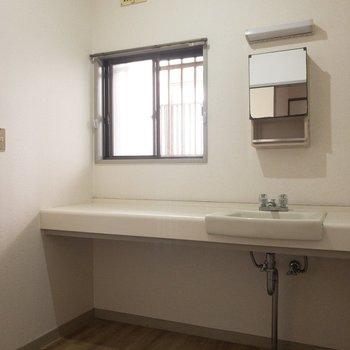 脱衣所洗面台は割りとコンパクトです!