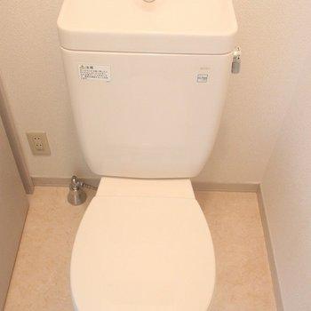 温水洗浄便座は付いてません。※写真は2階の同じ間取りの別部屋です