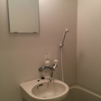 洗面台はコンパクトサイズ!