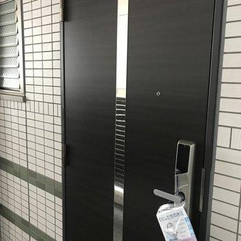 かわいい扉、鍵穴タイプではないです!