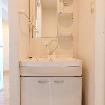 洗面台です※写真は同間取り別部屋のものです。