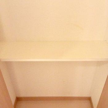 浅めですが廊下にも収納ありました!※写真は前回募集時のものです