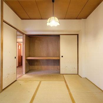 【工事前】こちらがオークの無垢床フローリングになって寝室になります!