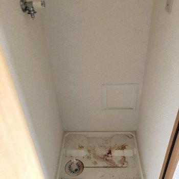 洗濯機は扉で隠せます◎※写真はクリーニング前です