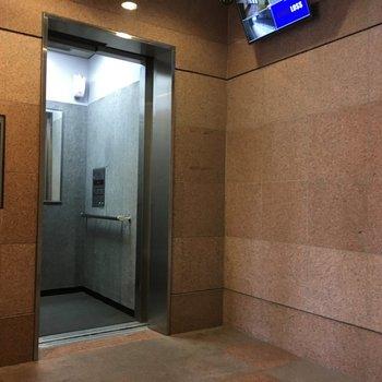 エレベーターありました。