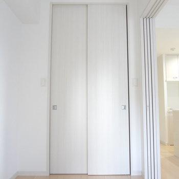 クローゼットもあります。※写真は10階の角部屋ではない同間取りの部屋ものです