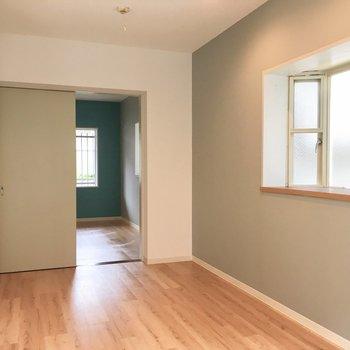 出窓が2つも!贅沢な角部屋。