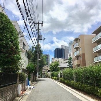 お家の前の通りは閑静な住宅街です。