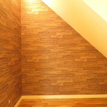 階段下にもしっかり収納できるポジションがあります