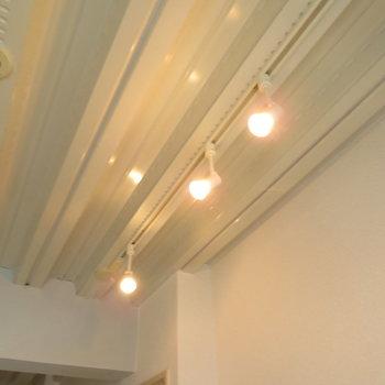 天井のライト。繊細♪