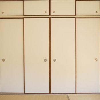 和室の収納はと言うと※写真は反転間取り別部屋のものです。