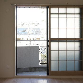 6.1帖洋室:ここには2箇所目のベランダ※写真は反転間取り別部屋のものです。