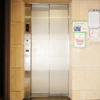 渋めのエレベーター