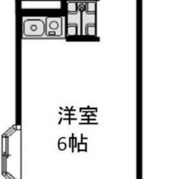 約17㎡の小さなワンルームですが角部屋ですよ。