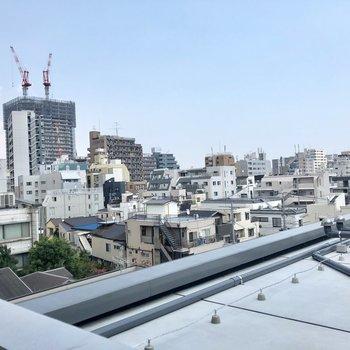 眺めいい〜!※写真は6階の別部屋からのものです。