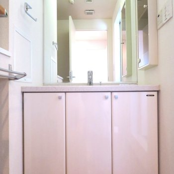 洗面台、大きい〜!