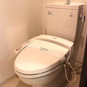 前が広いのでゆったりしたトイレ
