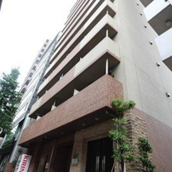 12階建ての立派なマンション。