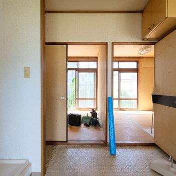 【工事前】壁を取っ払って広々とした空間になります!