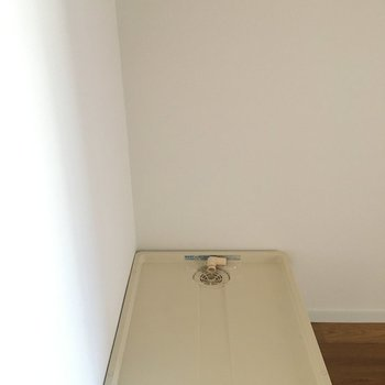 このスペースに洗濯機も置けます。
