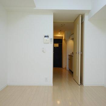 この四角形が使いやすいポイントですよね。※写真は4階の反転間取りの別部屋です。