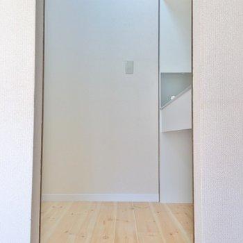 このスペースがキッチン。※1階の同じ間取りのお部屋です。