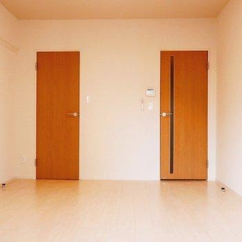 とびらがふたつ。※写真は2階の同間取り別部屋のものです