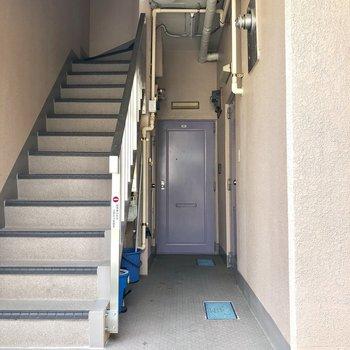 共有部です。1階なので階段登る必要なし!
