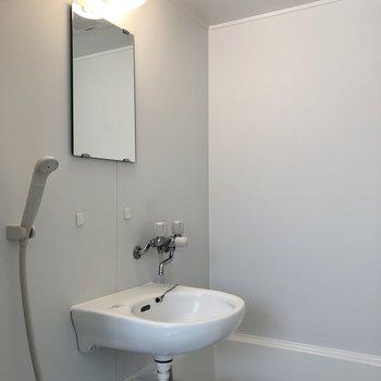 洗面台と浴槽の2点ユニット。