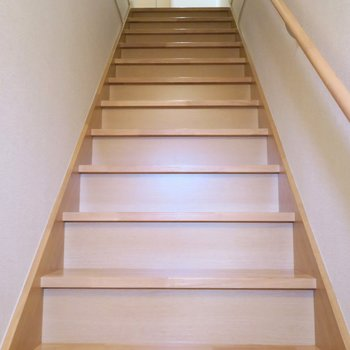 玄関を開けたらすぐ階普段が